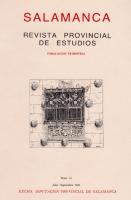 Aspectos demográficos de la Provincia de Salamanca durante la Guerra Civil (1936-1939)