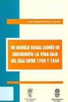 Un modelo social leonés en crecimiento: la Vega Baja del Esla entre 1700 y 1850