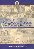 Aportación al vocabulario popular de la comarca berciana